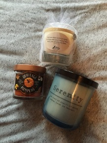 All my new lovely candles.